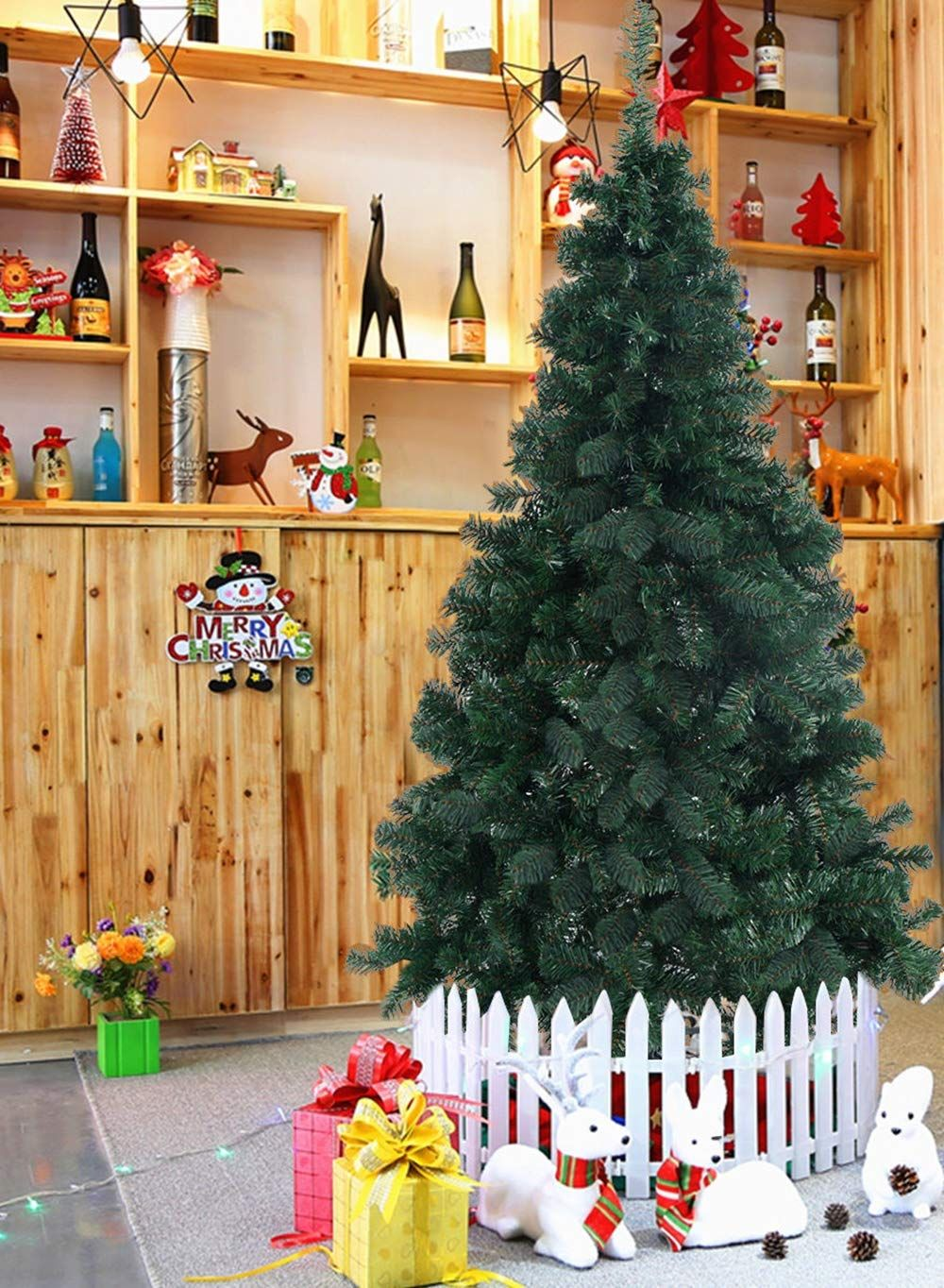 Good concept 8Ft PVC Artificial Christmas Green Tree W