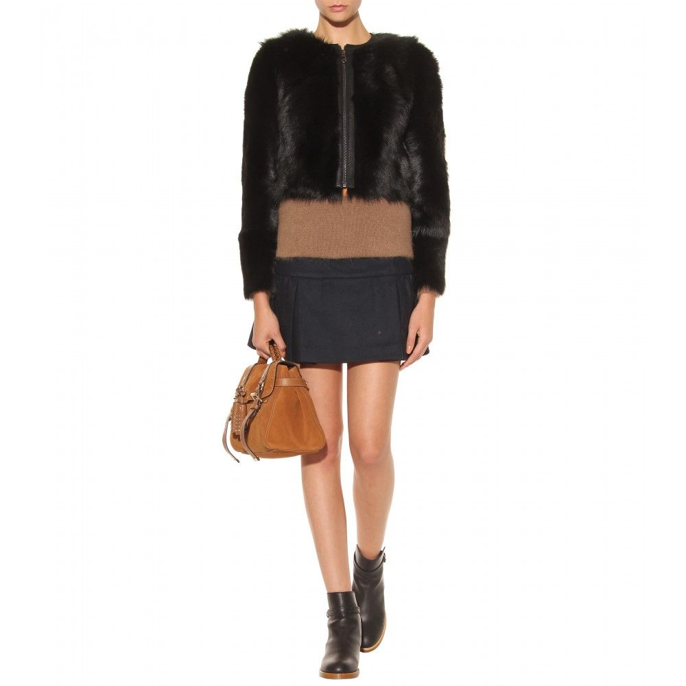 Mulberry - WILD LAMB FUR CROPPED JACKET
