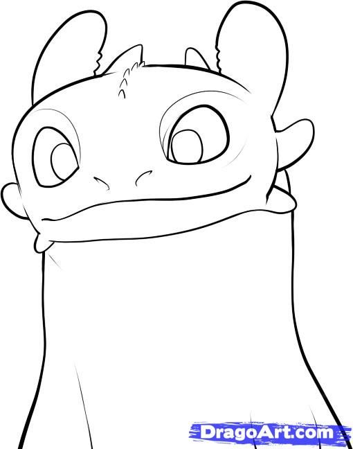Step 7 How To Draw Toothless Coloring Pages Toothless Drawing