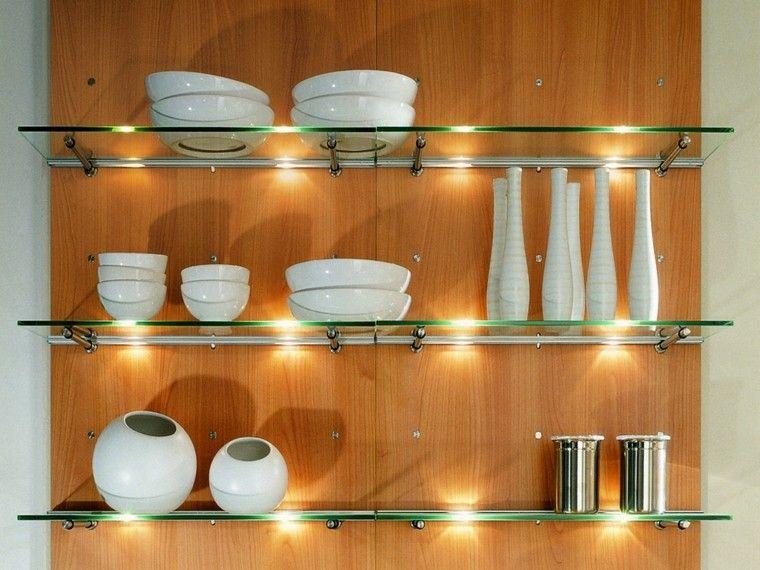 Único Olla De Cocina De Iluminación Estante Ornamento - Ideas de ...
