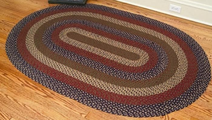 kitchen amazon x rugs red oval jute com dining rug dp braided