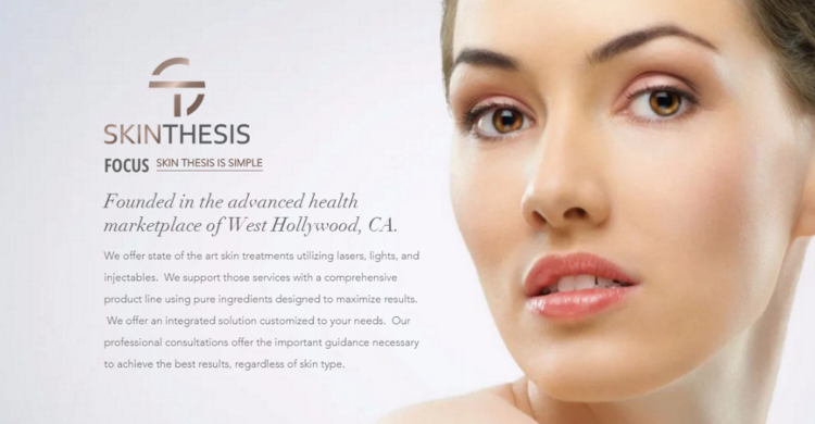 Skin Thesis Uses Advanced Skincare Technology Including Lasers Lights And Injectables To Achieve Natural Face Products Skincare Beauty Skin Care Beauty Skin