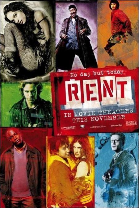 Rent Movie Poster 2005 Rent Film Rent Movies Broadway Posters