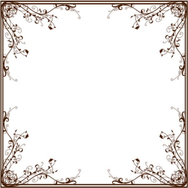 Floral frame5 ❤ liked on Polyvore featuring frames, backgrounds ...