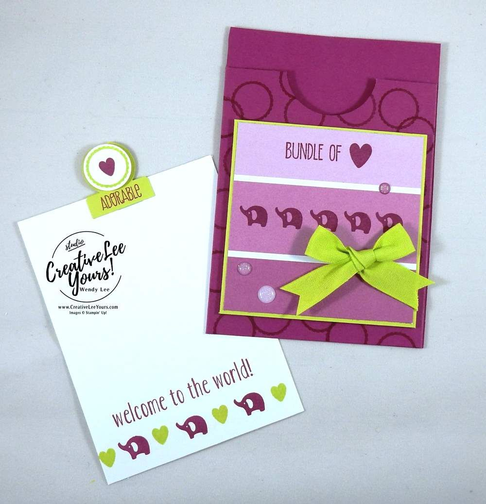 Adorable Bundle Of Love Gift Card Holder Stampin Up Cards Cards