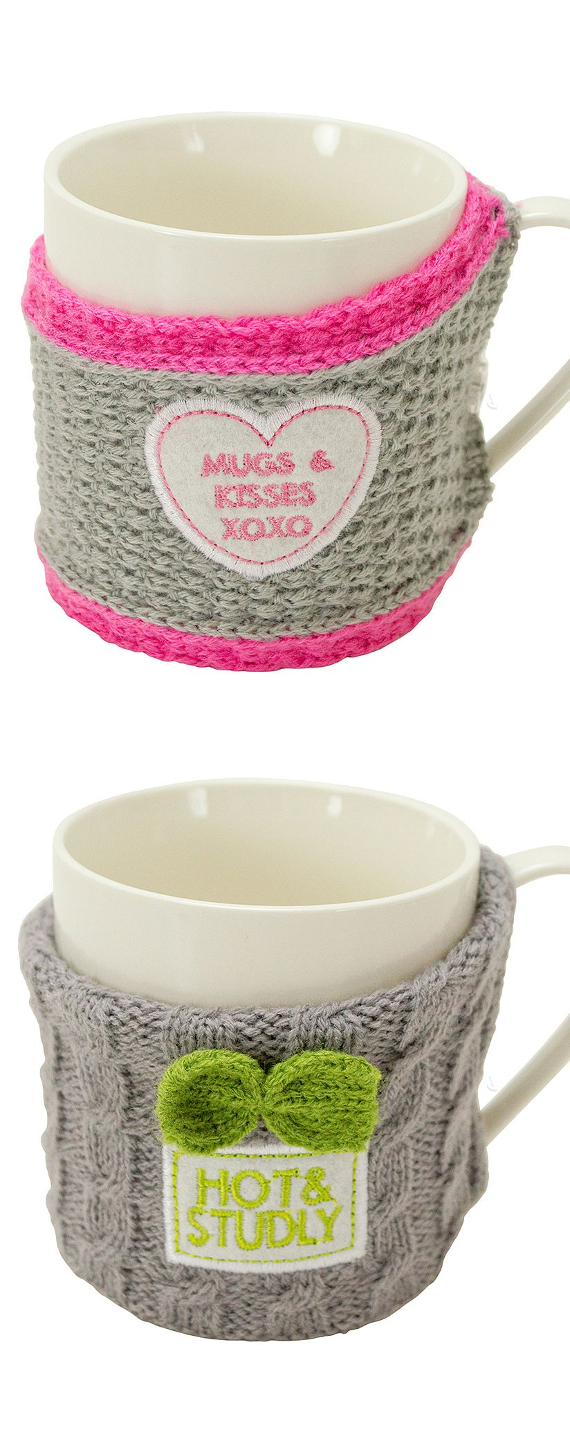 His and Hers knitted sweater mugs! #product_design ...