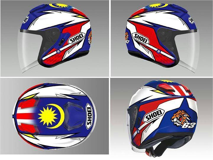 813b77c5 Helmet Shoei J-Cruise Zulfahmi Replica by Shoei Japan!! | Kegilaan ...