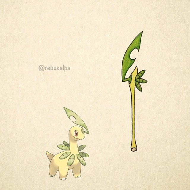 No. 153 - Bayleef. #pokemon #bayleef #bladestaff #pokeapon