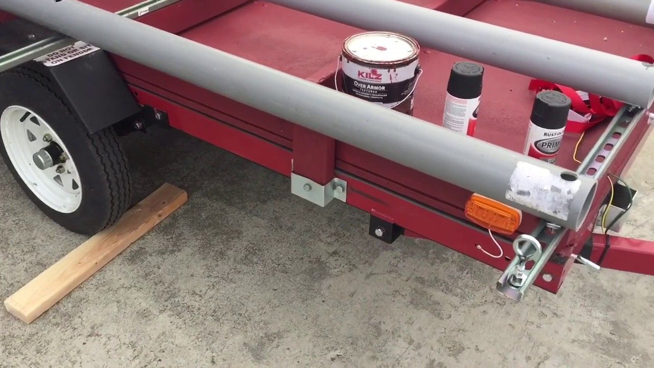 Double Kayak Trailer Diy Harbor Freight Conversion Camping Further On Wiring Kit