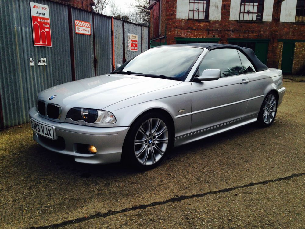 2003 bmw 330 ci sport silver e46 convertible m sport. Black Bedroom Furniture Sets. Home Design Ideas