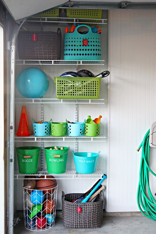 Iheart Organizing Garage Update Outdoor Toy Organization In My Delusional Dreams Every Closet Looks Like This