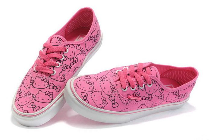 Pink Hello Kitty Vans Authentic Canvas Shoes Sale  65.00  aeb80b0e5