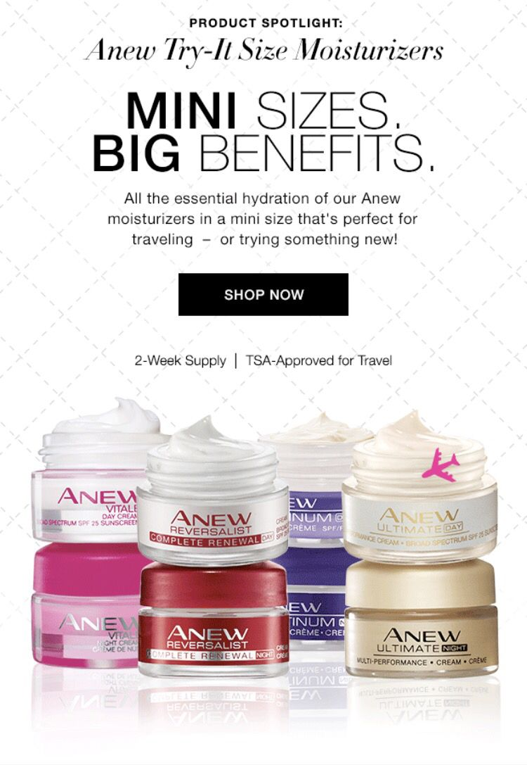Getting ready to travel?!? Get your travel size skin care for FREE with any 3-pack purchase at https://www.avon.com/promotions/19408?rep=adrianacarlson&utm_content=buffer49fa3&utm_medium=social&utm_source=pinterest.com&utm_campaign=buffer