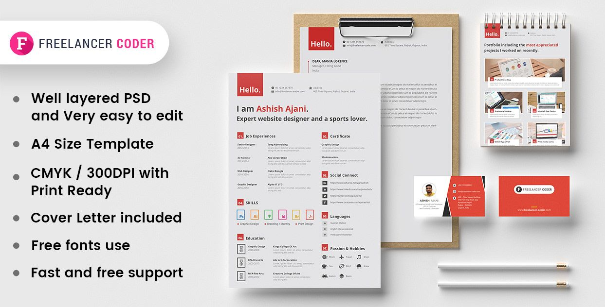 "Check out this Behance project ""Free Modern Resume"