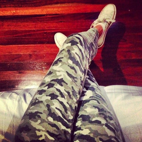 Love Kendall Jenners Instagram pictures and these jeans are amazing! I'm loving the 'military' trend at the moment