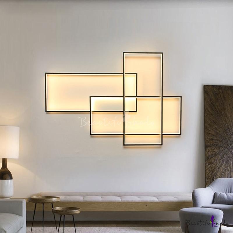 High Bright 60w 80w 3000k 6000k Rectangular Led Wall Light 14 40 In 2020 Wall Lights Led Wall Lights Wall Lights Living Room