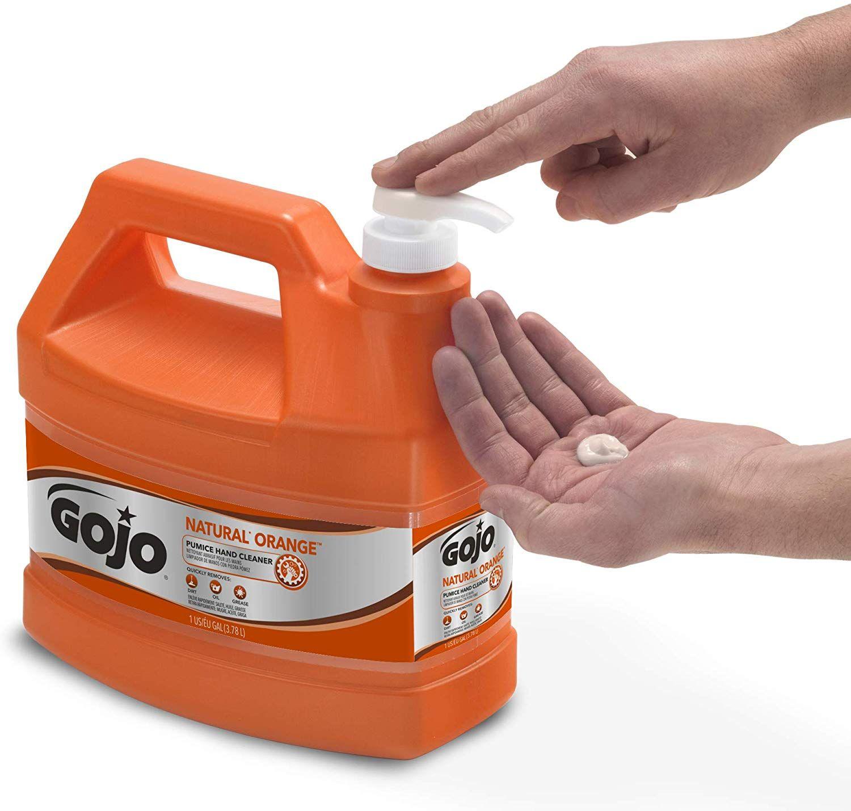Gojo Natural Orange Pumice Industrial Hand Cleaner 1 Gallon Quick