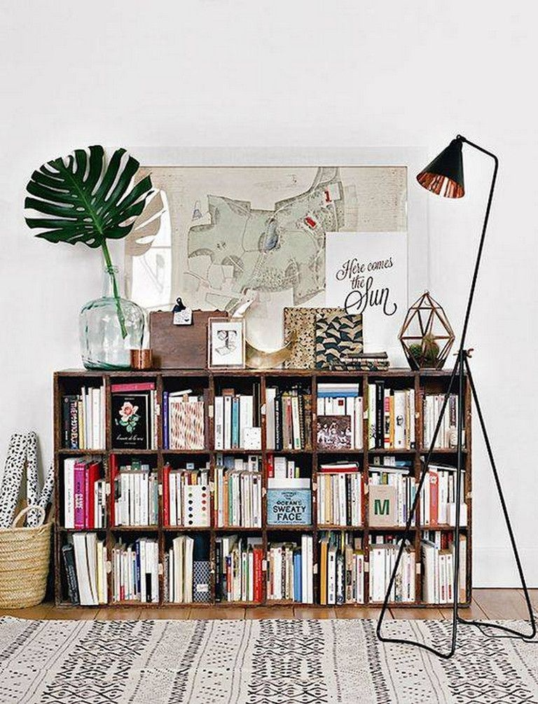 In case the room is small, use hidden storage spaces. Living