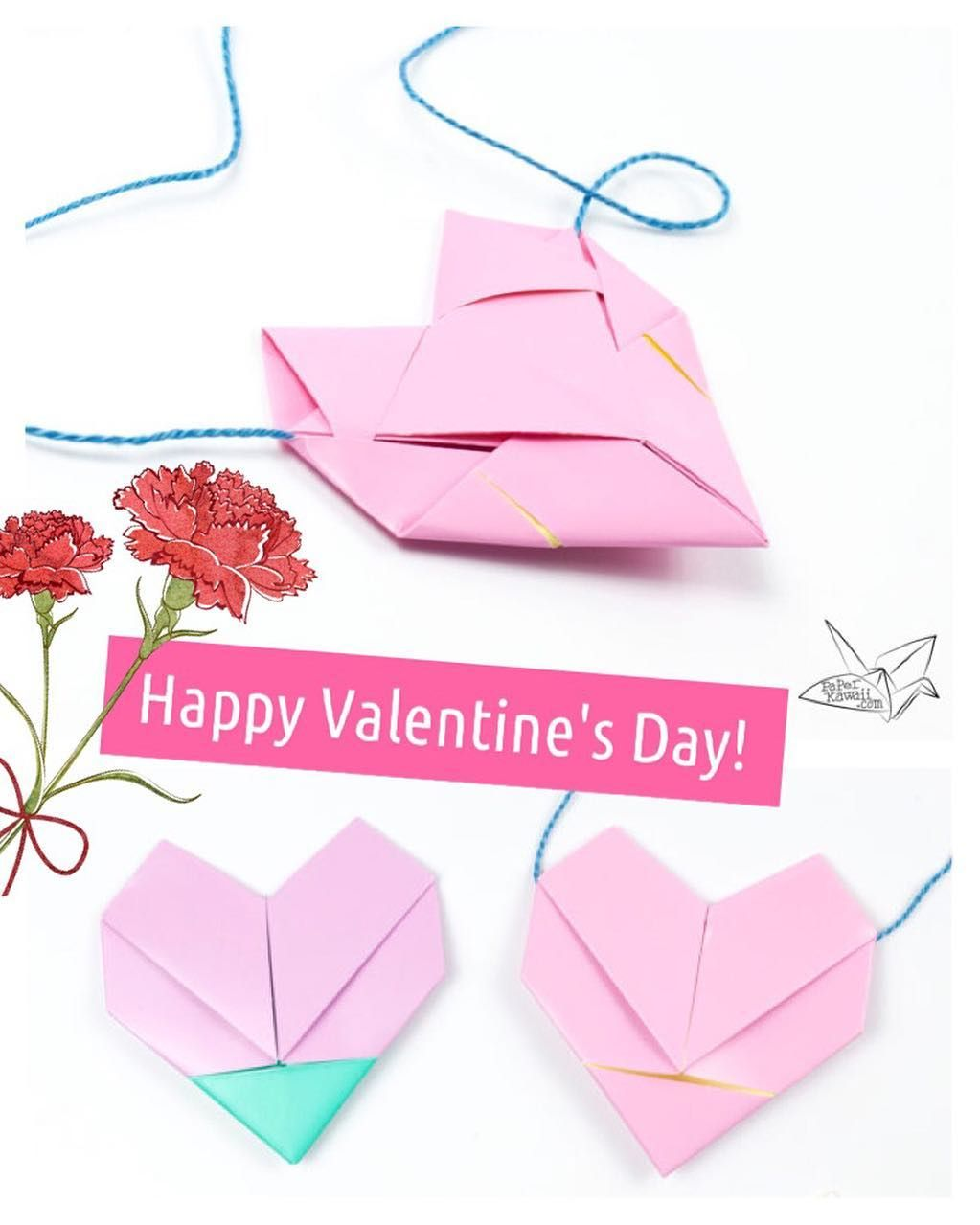Happy valentines day origami necklace tutorial httpsyoutu origami instructions on how to fold the traditional origami lotus flower make lots of pretty origami flowers jeuxipadfo Image collections