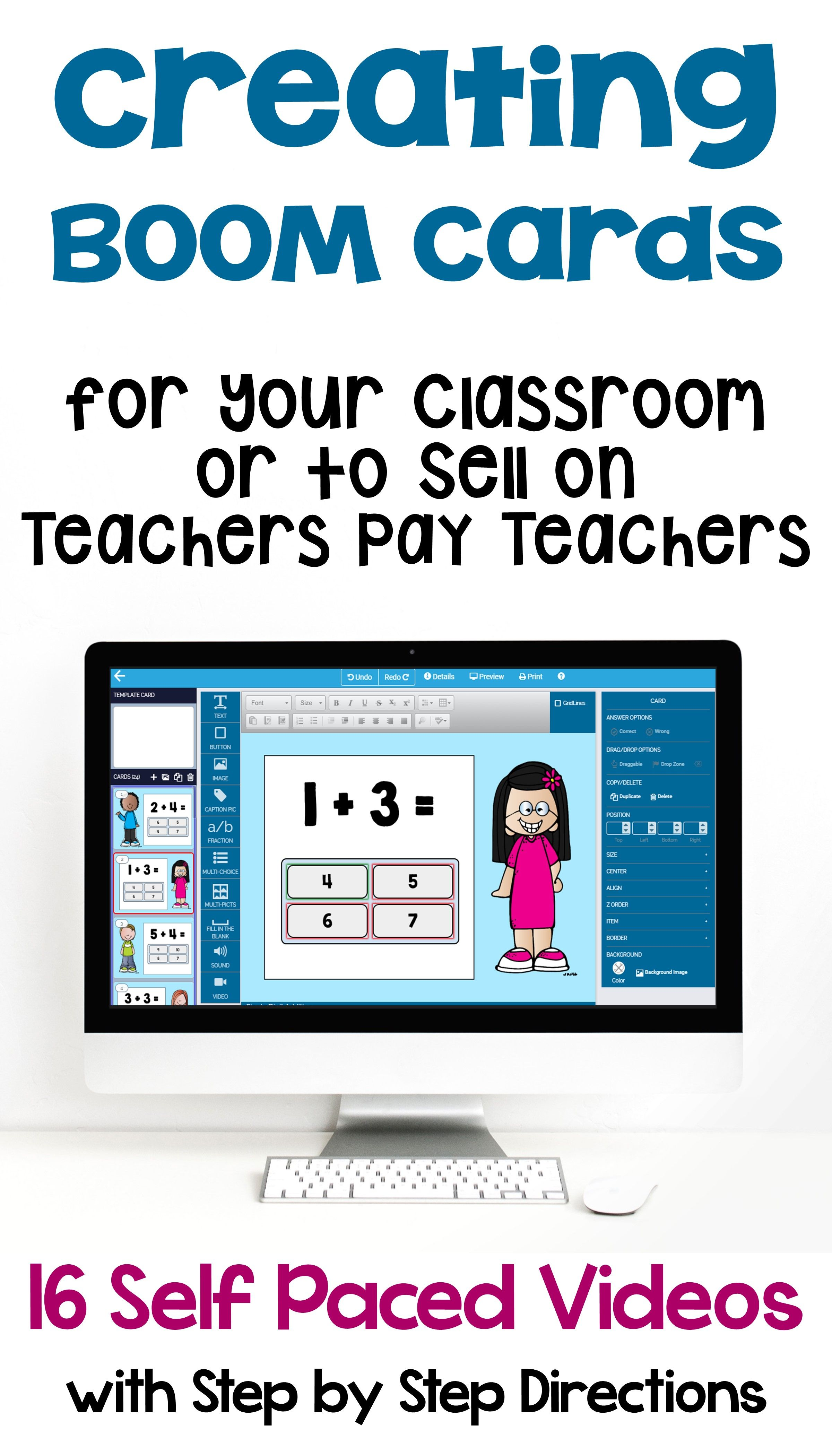 Creating Boom Cards For Your Class Or To Sell On Teachers