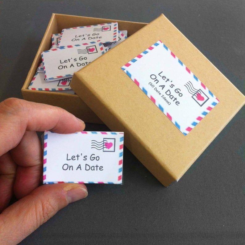 Heute Nacht-Box 60 Tag-Nacht-Ideen romantisches Geschenk