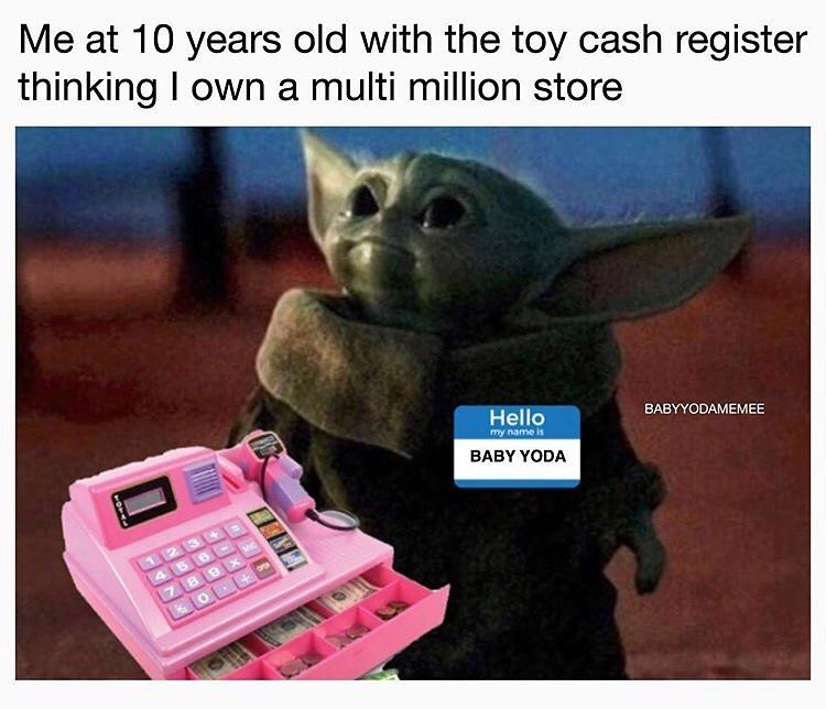 Baby Yoda On Instagram Own A Store I Do Imagine It I Must Follow Babyyoda Dailyy Like Comment Yoda Meme Star Wars Memes Yoda