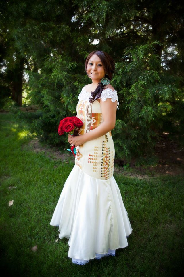 Irene Begay Designed Native American Wedding Dress American