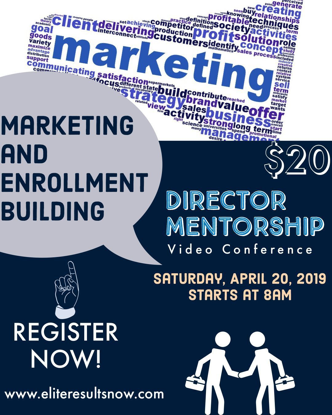 Marketing and Enrollment Building Webinar April 20, 2019