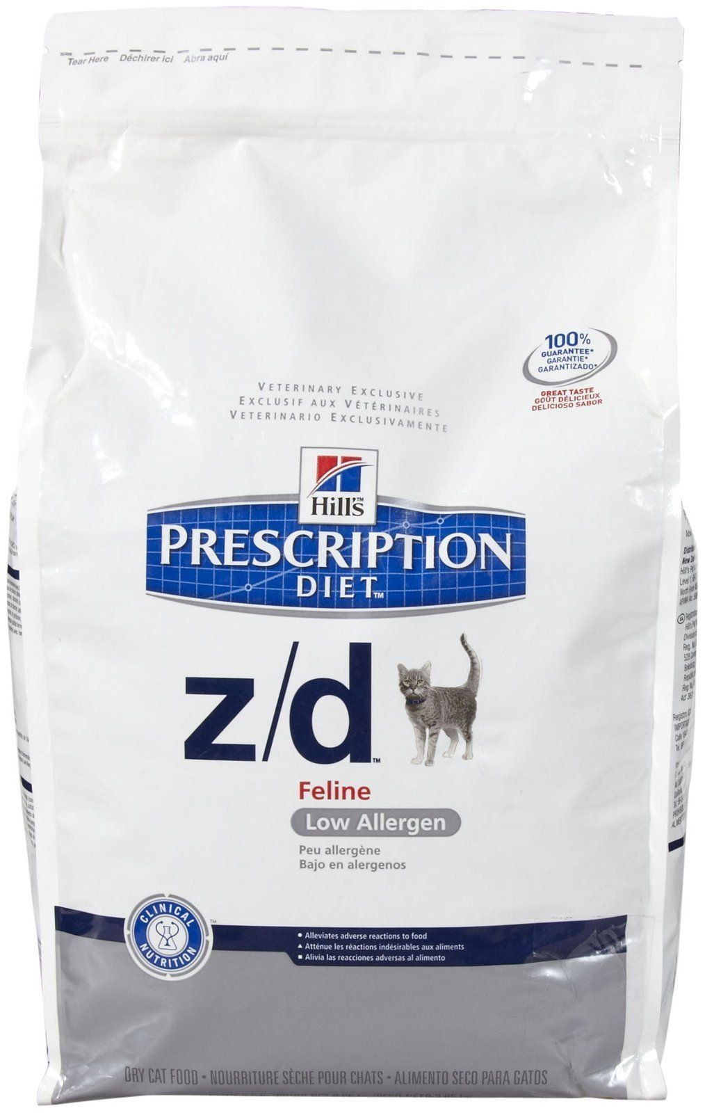 Hills Z/D Low Allergen Cat Food 8.5 lb ** Details can be