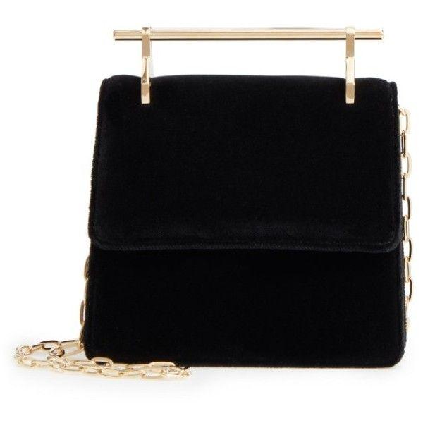 Women's M2Malletier Mini La Collectionneuse Velvet Crossbody Bag ($1,087) ❤ liked on Polyvore featuring bags, handbags, shoulder bags, cross body, mini crossbody purse, mini crossbody, velvet handbags and velvet purse