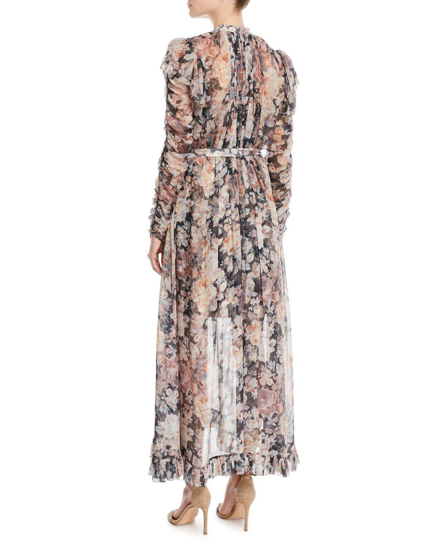 e5e07cd56b9 Zimmermann Tempest Frolic High-Neck Floral Silk Maxi Dress ...