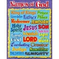 Names of god vbs chart also decorating ideas and decorations rh pinterest