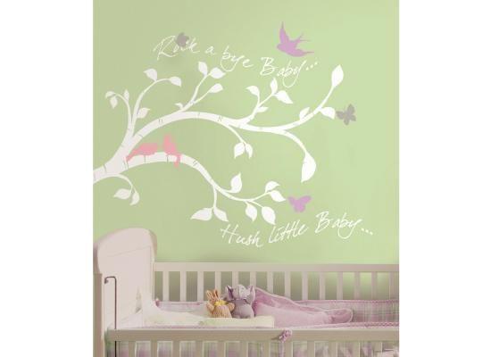 Wandsticker babyzimmer ~ Roommates wandsticker wandbild rock a bye baby zweigedu bekommst