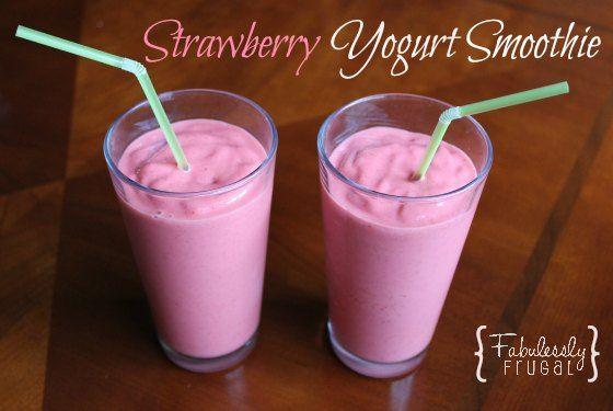 smoothie recept yoghurt