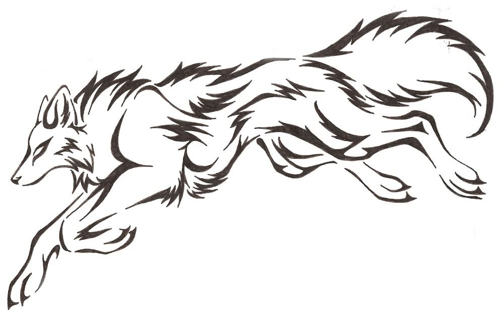 Gallery For > Wolf Jumping At You Drawing | wolves and other
