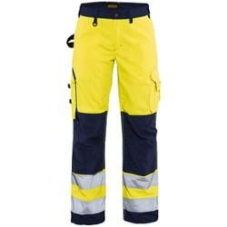 Photo of Blakläder® ladies high visibility trousers 7155 yellow size 44