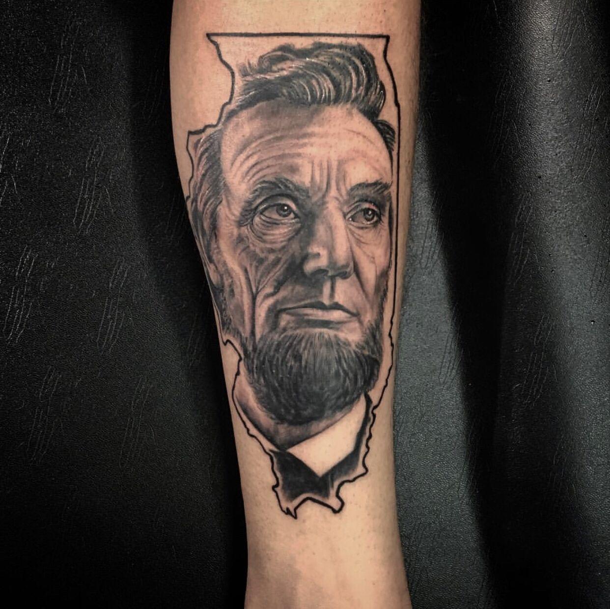 Abraham lincoln tattoo tattoos tattoo artists portrait