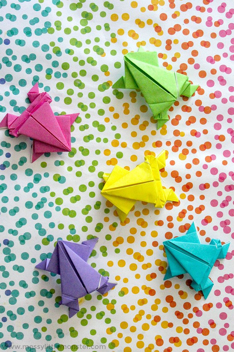 Origami Jumping Frog Craft plus a fun number game for
