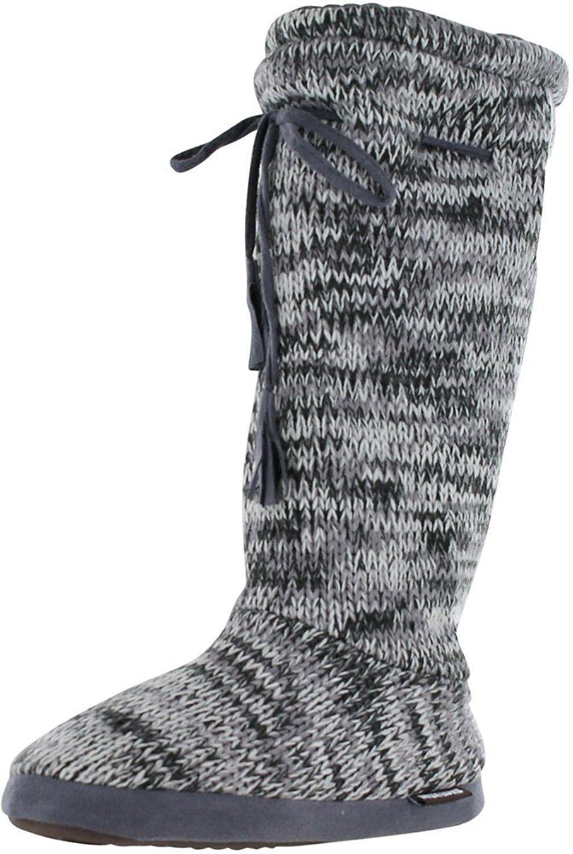 Amazon.com | Muk Luks Women's Tall Fleece-Lined Slipper Boot | Snow Boots