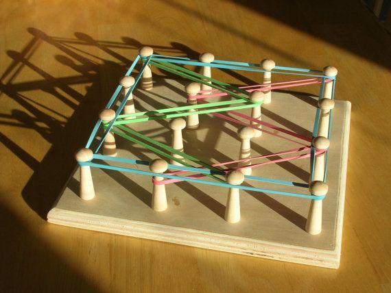 Montessori Rubber Band Art board