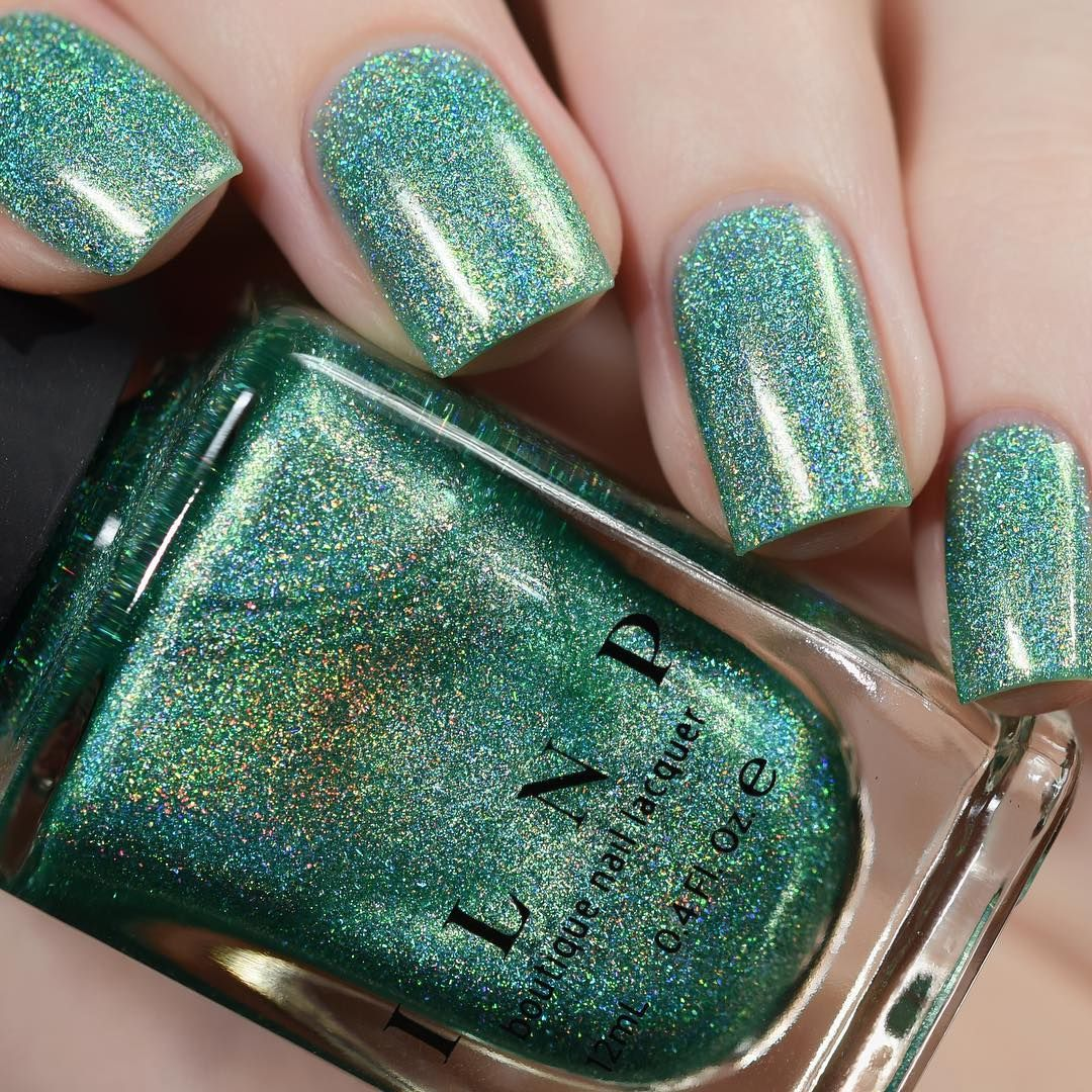 Bermuda Breeze is a refreshingly bright spring-green Ultra Holo nail ...