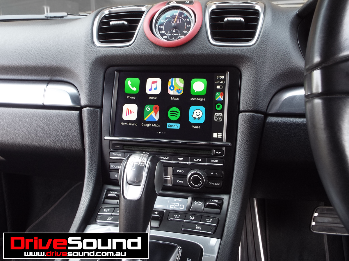 Porsche Boxster 981 with Apple CarPlay installed by
