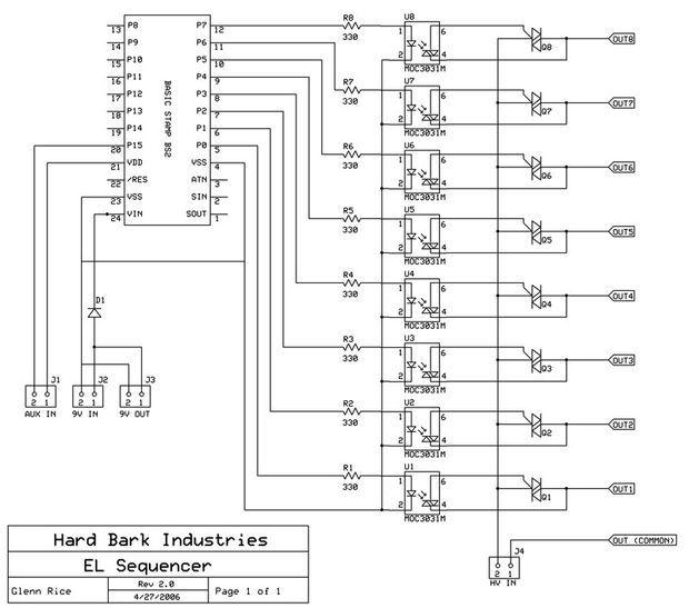 el wire schematic