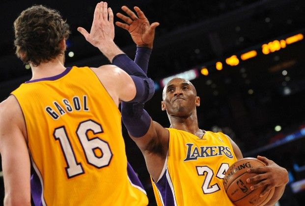 Image result for pau gasol and kobe bryant