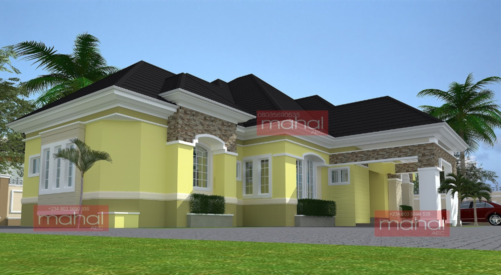 Contemporary Nigerian Residential Architecture Modern Bungalow House Design Modern Bungalow House Modern Bungalow House Plans