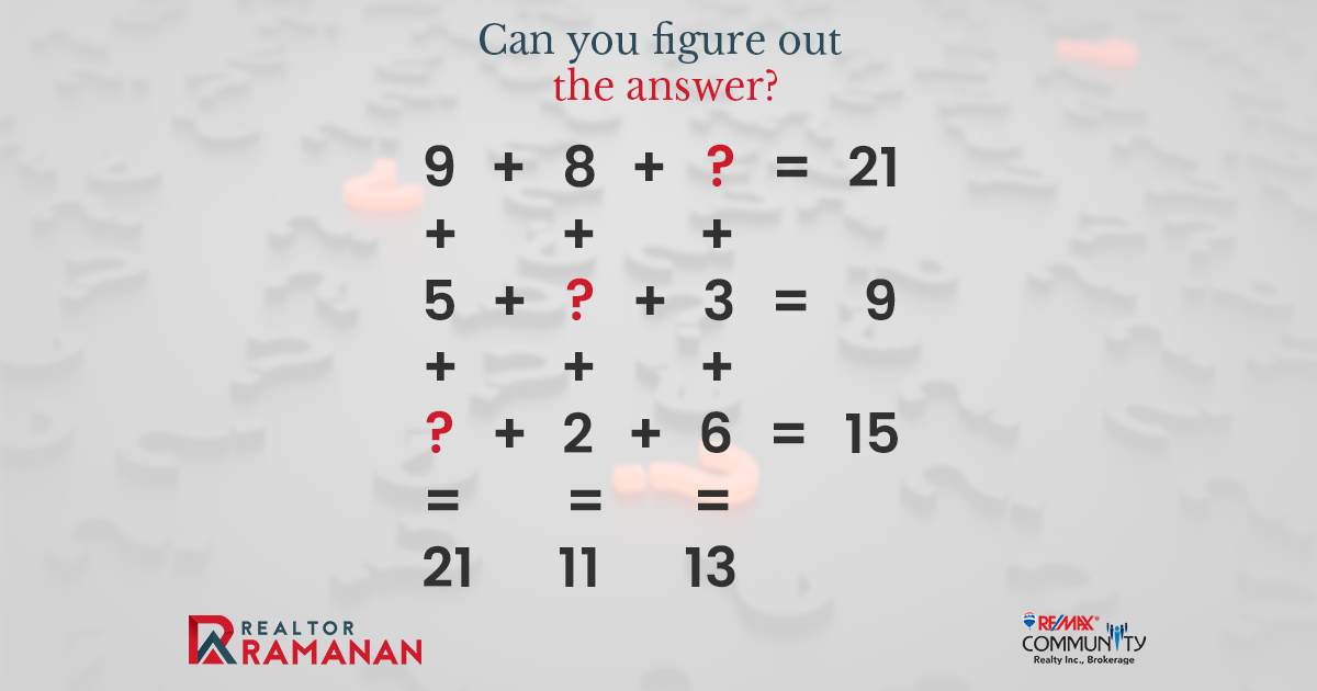 Comment section open for your answers… #RealtorRamanan #