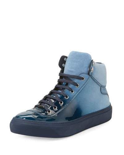 Argyle hi-top sneakers - Blue Jimmy Choo London XeHgF