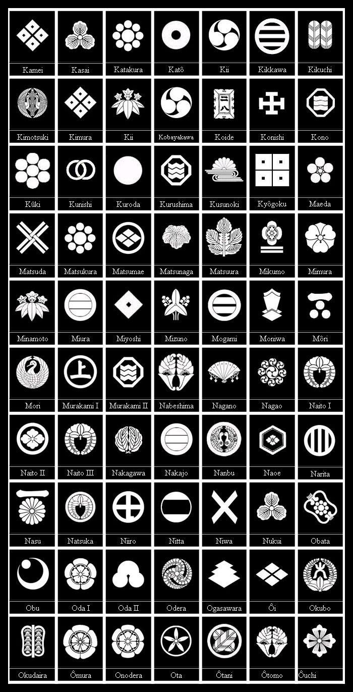 Mon Kamon Or Monokoro Samurai Family Crests 201 Designs From Various Samurai Clans And Their Families Japanese Family Crest Japanese Symbol Family Crest