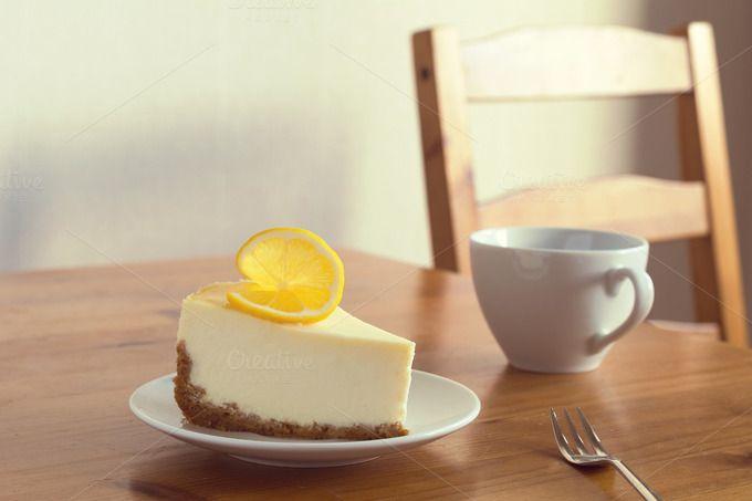 Lemon cheesecake by The baking man on Creative Market