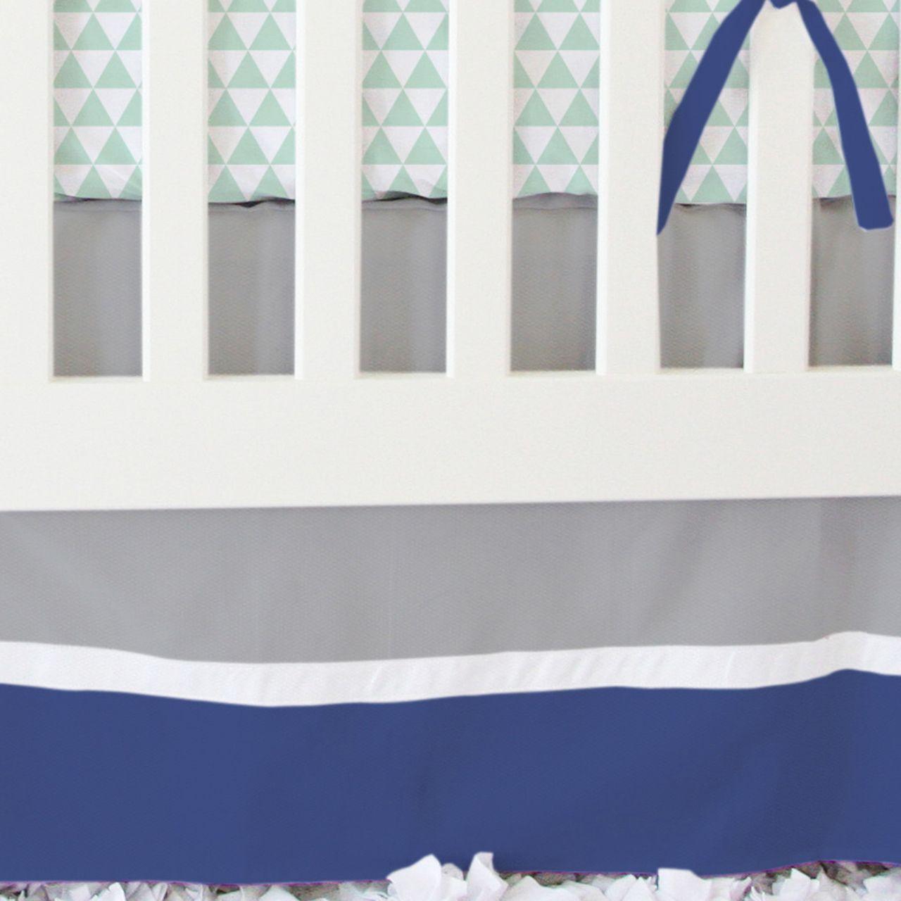 Caden Lane Baby Bedding - Navy and Mint Arrow Bumperless Crib Bedding, $172.00 (http://cadenlane.com/navy-and-mint-arrow-bumperless-crib-bedding/)